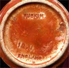 Flared Ruskin vase (marks)