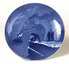 B and G Christmas plate - 1917