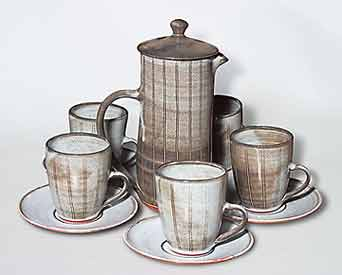 Solly coffee pot and cups