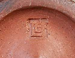 David Leach earthenware pot (mark)
