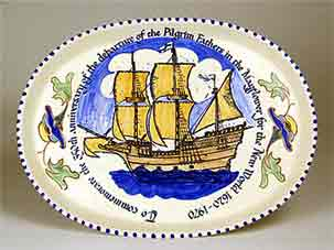 Honiton Mayflower platter