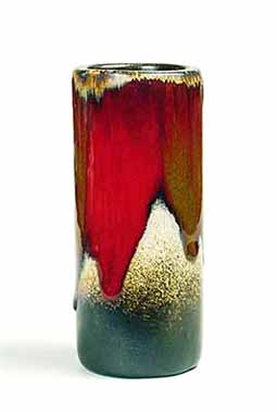 Leaper cylindrical vase