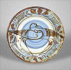 Blue plate by Seth Cardew