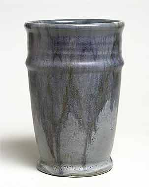 Streaky blue Upchurch vase