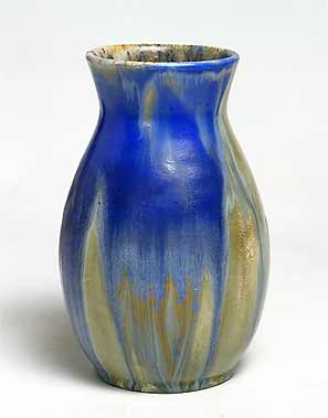 Blue streaky Candy vase