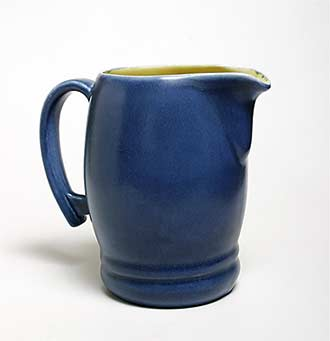 Blue Bretby jug