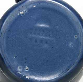 Blue Bretby jug (mark)