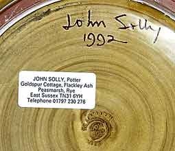 Large John Solly bowl (mark)