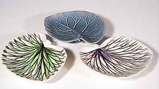 Thanet leaf dishes