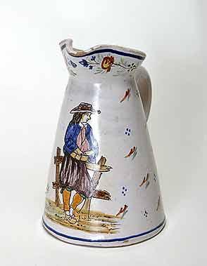 Old Quimper jug