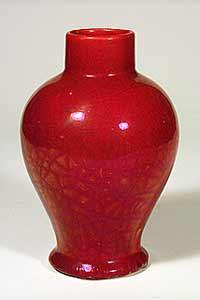Red Maw vase
