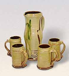 Bowen jug and tankards
