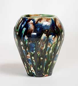 Old mottled European vase