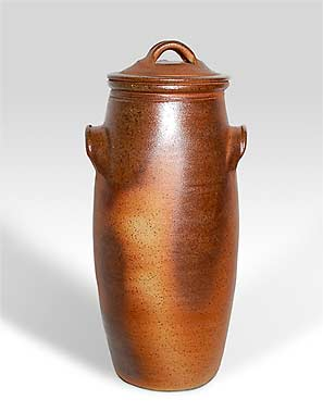 Tall John Leach storage jar