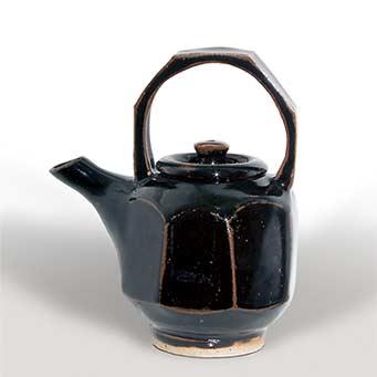 Jeremy Leach tenmoku teapot