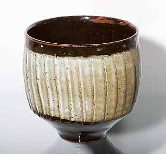 Tenmoku/celadon Leach bowl