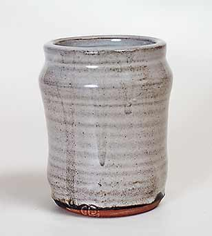 Tin-glazed David Leach pot