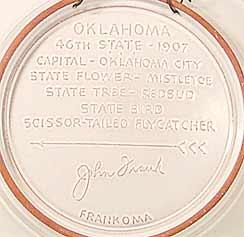 Oklahoma plate (back)