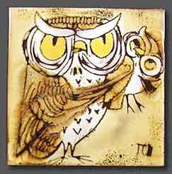 Chelsea owl tile