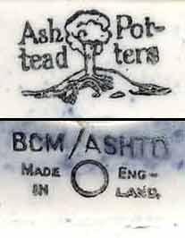 Ashtead Pottery Genozo lion (marks)