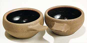 Two handled Crowan pots