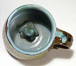 Frog mug (inside)