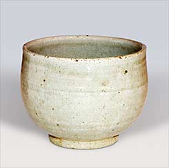 Apple ash tea bowl