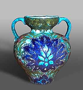 de Morgan two-handled vase