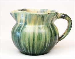 Green streaky jug