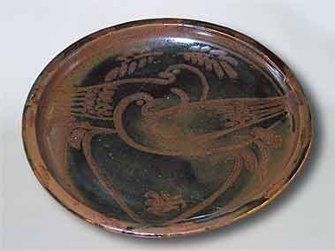 Seth Cardew bird plate