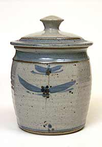 Vellow lidded jar