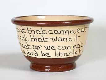 Cumnock Selkirk Grace bowl