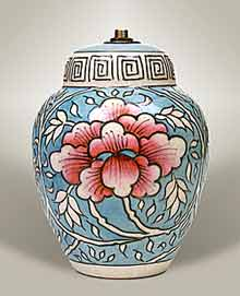 Charlotte Rhead lamp base