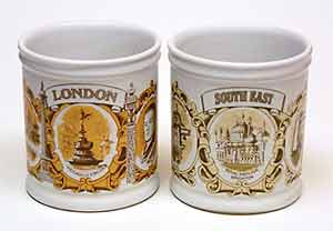 Denby souvenir mugs