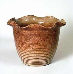 Frilly Poole vase