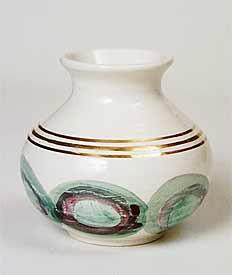 Gold banded Jo vase