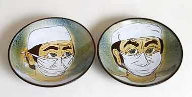 Pair of Chelsea surgeon bowls