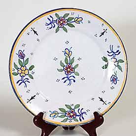 Floral Quimper plate