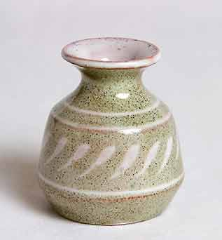 Small green Pryke vase