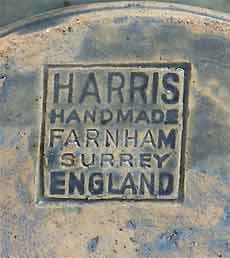 Blue Farnham jug (mark)