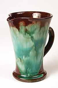 Brown/green Ewenny jug