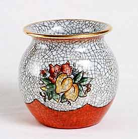 Dahl-Jensen crackle glazed pot