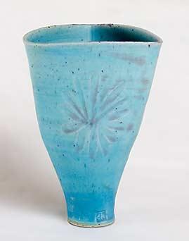 Blue Marianne de Trey vase
