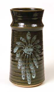 Patterned Lotus vase