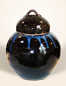 Decorated Corser lidded jar