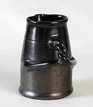 Twisty-handled black Dicker jug