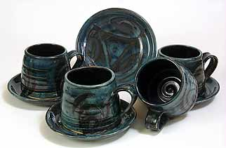 Anchor cups and saucers