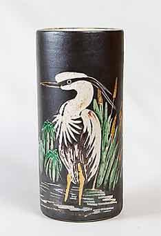 Marazion stork vase