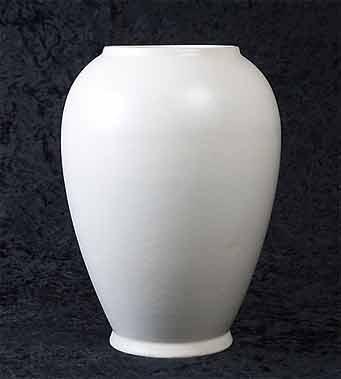 White Bretby vase