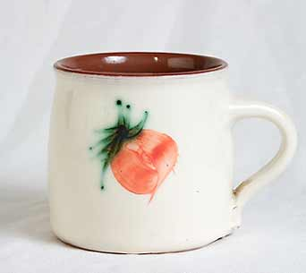 Alan Brough cream slip mug